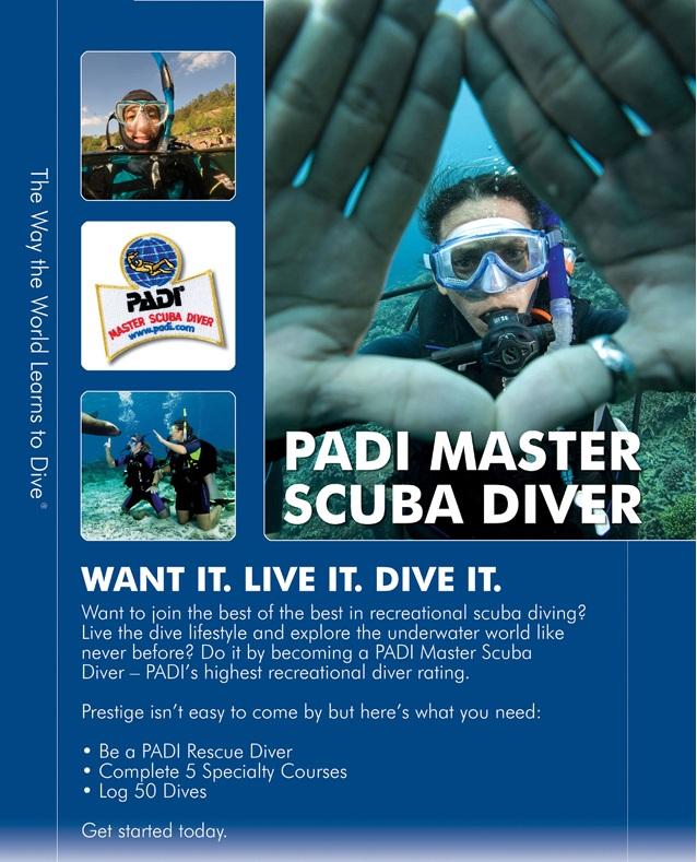PADI Master Scuba Diver poster